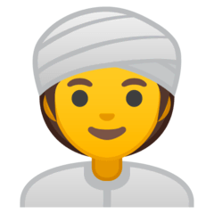 Mujer con turbante Emoji Google Android, Chromebook