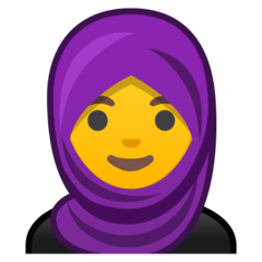 Woman With Headscarf Emoji on Google Android and Chromebooks