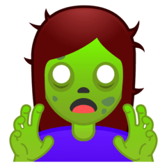 Woman Zombie Emoji on Google Android and Chromebooks