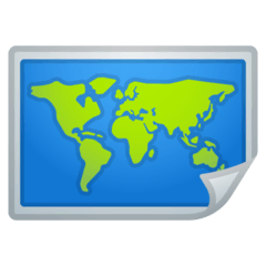 Carte du monde Émoji Google Android, Chromebook