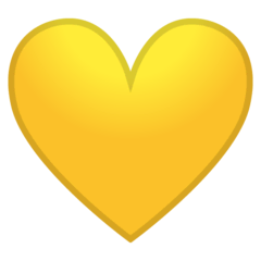 Yellow Heart Emoji on Google Android and Chromebooks