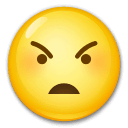 Angry Face Emoji on LG Phones