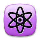 Atom Symbol Emoji on LG Phones