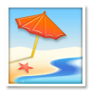 Beach With Umbrella Emoji Meaning Copy Paste