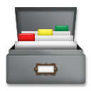 Card File Box Emoji on LG Phones