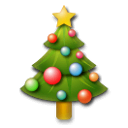 Christmas Tree Emoji on LG Phones