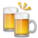 Clinking Beer Mugs Emoji on LG Phones