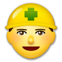 Construction Worker Emoji on LG Phones