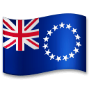 Flag: Cook Islands Emoji on LG Phones
