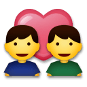 Couple With Heart: Man, Man Emoji on LG Phones
