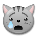 Crying Cat Emoji on LG Phones