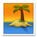 Desert Island Emoji on LG Phones