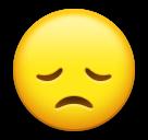 Enttäuschtes Gesicht Emoji LG