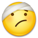 Face With Head-Bandage Emoji on LG Phones