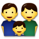 Family: Man, Man, Boy Emoji on LG Phones