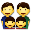 Family: Man, Man, Girl, Girl Emoji on LG Phones