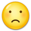 Frowning Face Emoji on LG Phones