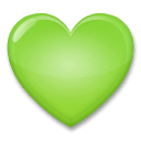Green Heart Emoji on LG Phones