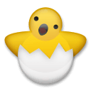 Hatching Chick Emoji on LG Phones