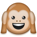 Hear-no-evil Monkey Emoji on LG Phones