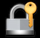 Cadeado fechado com chave Emoji LG