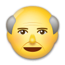 Old Man Emoji on LG Phones