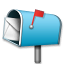 Open Mailbox With Raised Flag Emoji on LG Phones