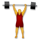 Person Lifting Weights Emoji on LG Phones