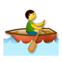 Person Rowing Boat Emoji on LG Phones