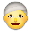 Person mit Turban Emoji LG