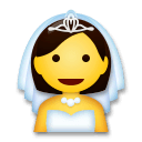 Person With Veil Emoji on LG Phones