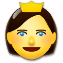 Princess Emoji on LG Phones
