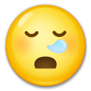 Sleepy Face Emoji on LG Phones