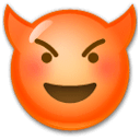 Smiling Face With Horns Emoji on LG Phones