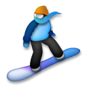 Snowboarder Emoji on LG Phones