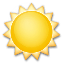 Sun Emoji on LG Phones
