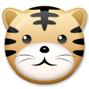 Tiger Face Emoji on LG Phones