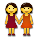 Women Holding Hands Emoji on LG Phones