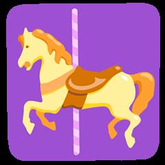 Cavallo della giostra Emoji Messenger