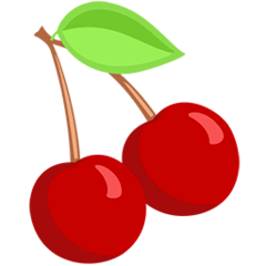 Cherries Emoji in Messenger