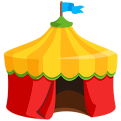 Circus Tent Emoji in Messenger