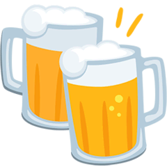 Clinking Beer Mugs Emoji in Messenger