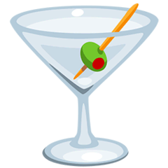 Cocktail Glass Emoji in Messenger