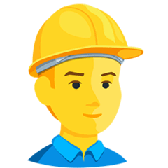 Construction Worker Emoji in Messenger