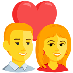 Couple With Heart Emoji in Messenger