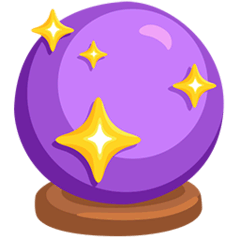 Crystal Ball Emoji in Messenger