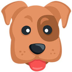 Dog Face Emoji in Messenger