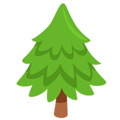 Evergreen Tree Emoji in Messenger