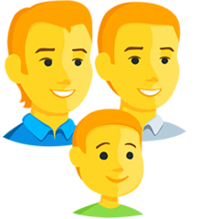 Family: Man, Man, Boy Emoji in Messenger