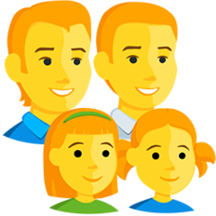 Family: Man, Man, Girl, Girl Emoji in Messenger